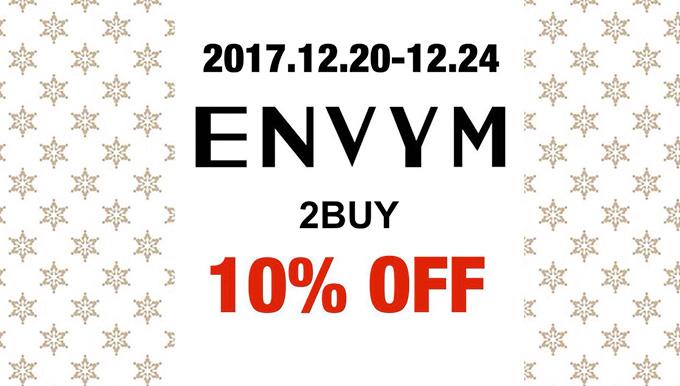 ENVYM福岡パルコ店 12/20〜12/24 X'mas FAIR