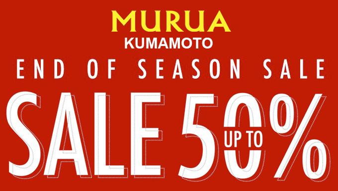MURUA熊本店 7/4(tue)〜 【2BUY10%OFF 3BUY20%OFF】