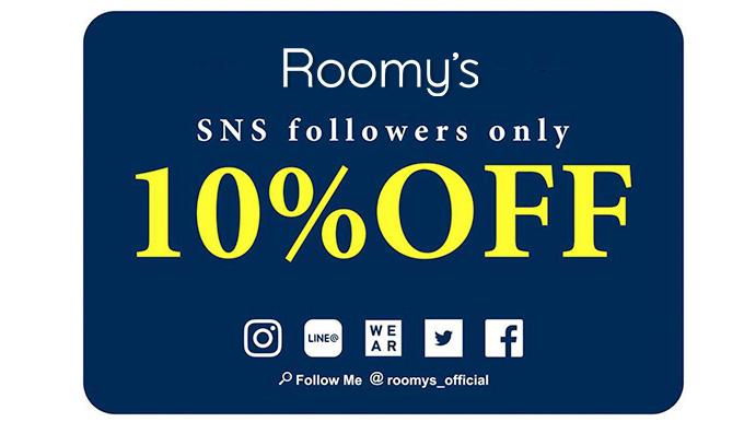 Roomy's【SNSフォローで10%OFF!】