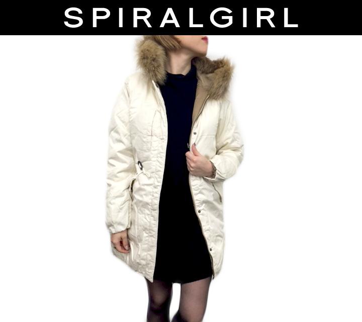 SPIRAL GIRL フード ファー付 リバーシブルコート