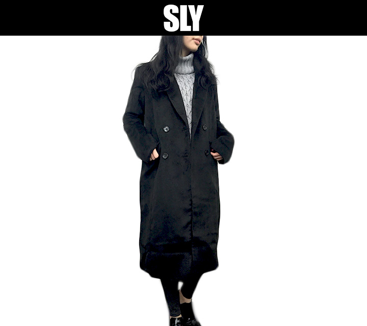 SLY ロングダブル テーラーコート